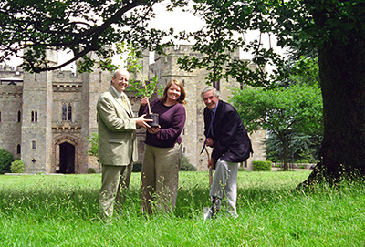 The first tree Appeal tree planting at Raby Castle